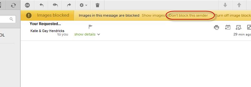 Unblock AOL Sender