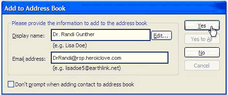 Add to Earthlink Address Book